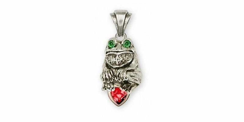 Frog Pendant Jewelry Silver And Gold Handmade Frog Pendant FG10-TTSP