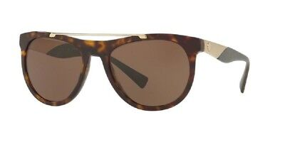 Authentic Versace Sunglasses VE4347 108/73 56mm Havana-Gold / Brown Lens