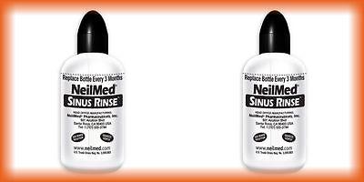 2 Neilmed Allergy Sinus Rinse Bottles  Labor Day Sale 2017