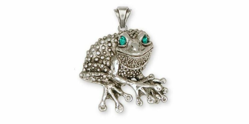Frog Pendant Jewelry Sterling Silver Handmade Frog Pendant FG22-XP