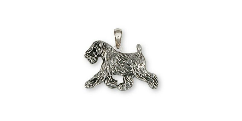 Soft Coated Wheaten Pendant Jewelry Sterling Silver Handmade Dog Pendant SCW10-P