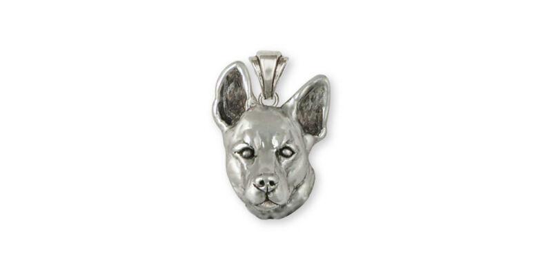 Australian Cattle Dog Pendant Jewelry Sterling Silver Handmade Dog Pendant ACD7-