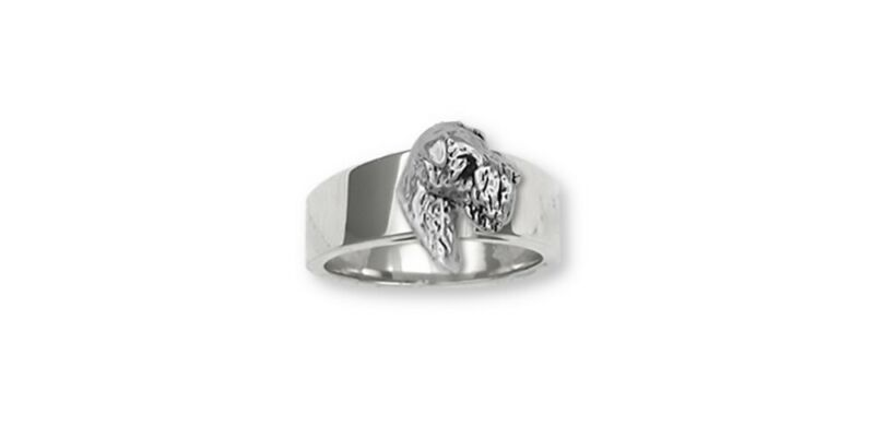 Soft Coated Wheaten Ring Jewelry Sterling Silver Handmade Dog Ring SC2-R