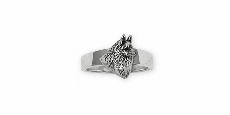Schipperke Jewelry Sterling Silver Schipperke Ring Handmade Dog Jewelry SCH2-R