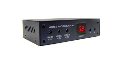 Analog BNC Video Audio To RF Coax CATV UHF VHF Channel Modulator For NTSC System