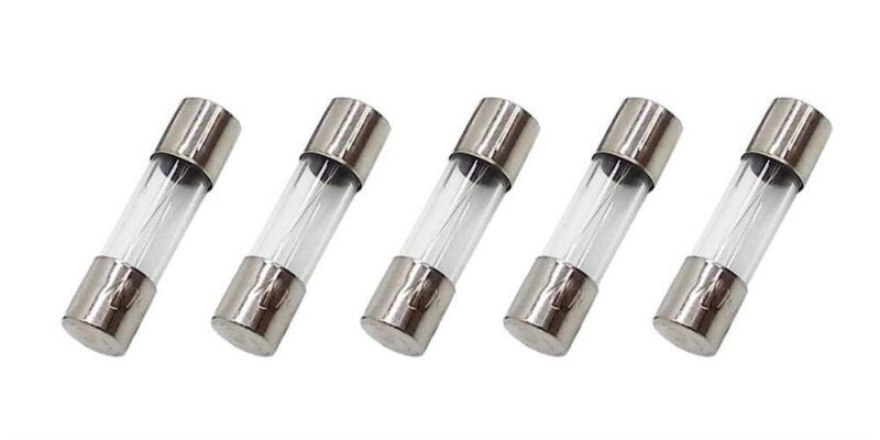 5 Pack of Littelfuse GMA-1.25A, 1.25A 250V Fast Acting (Fast Blow) Glass Body Fu