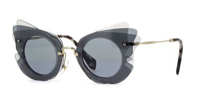 Miu Miu Sunglasses SMU02S VA4-3C2 Dark Gray Frames Gray Lens 63MM ()
