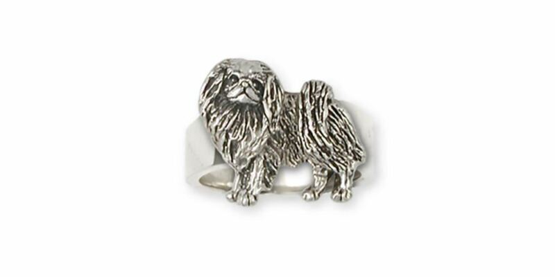 Japanese Chin Ring Jewelry Sterling Silver Handmade Dog Ring JC8-R