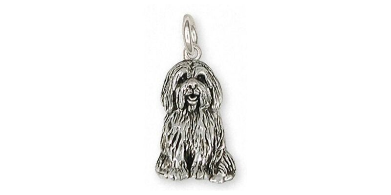 Tibetan Terrier Charm Jewelry Sterling Silver Handmade Dog Charm TTR3-C