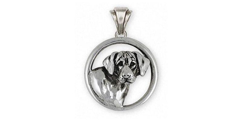 Rhodesian Ridgeback Pendant Jewelry Sterling Silver Handmade Dog Pendant RDG3-P