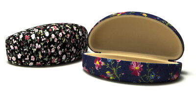 Floral Pattern Fabric Sunglasses / Eyeglass Case, assorted patterns, *NEW*