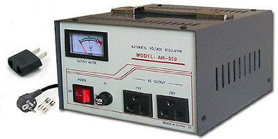500w Voltage Converter - Simran AR-500W Voltage Converter Stabilizer 220V 110V 500 Watt Step Up Down