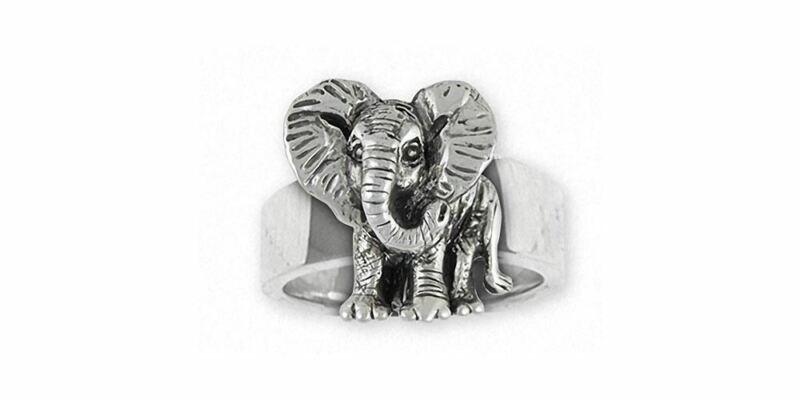 Elephant Jewelry Sterling Silver Elephant Ring Handmade Wildlife Jewelry EL7-R