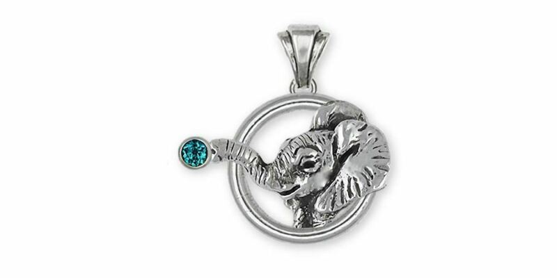 Elephant Jewelry Sterling Silver Elephant Pendant Handmade Wildlife Jewelry EL2H