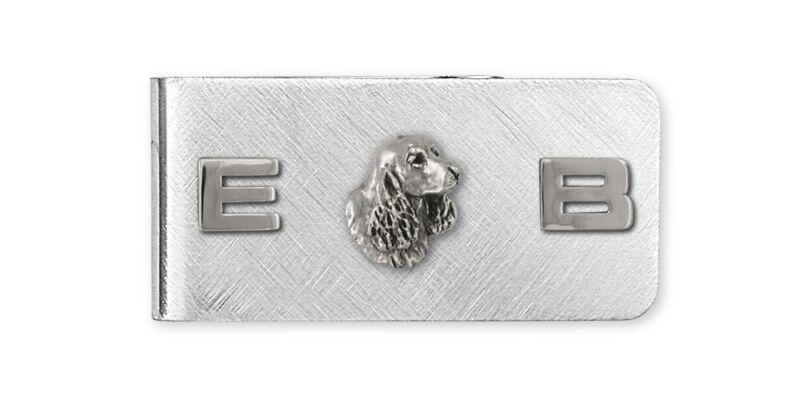 Springer Spaniel Money Clip Jewelry Sterling Silver Handmade Dog Money Clip SS6S