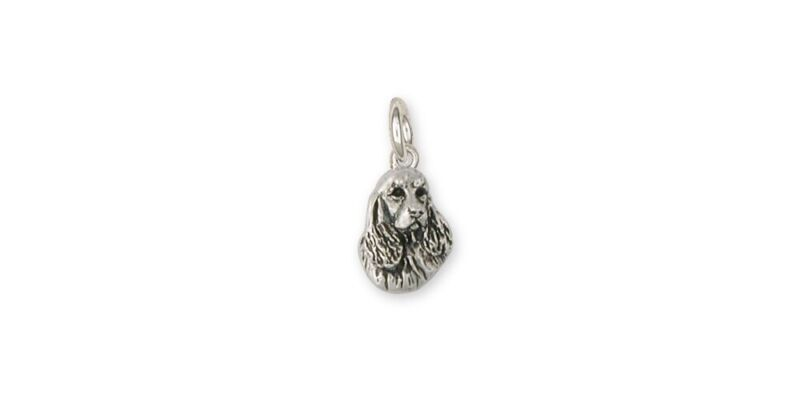 Springer Spaniel Charm Jewelry Sterling Silver Handmade Dog Charm SS4-C
