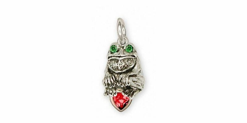 Frog Charm Jewelry Silver And Gold Handmade Frog Charm FG10-TTSC