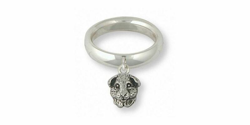 Guinea Pig Ring Jewelry Sterling Silver Handmade Piggie Ring GP4H-SR