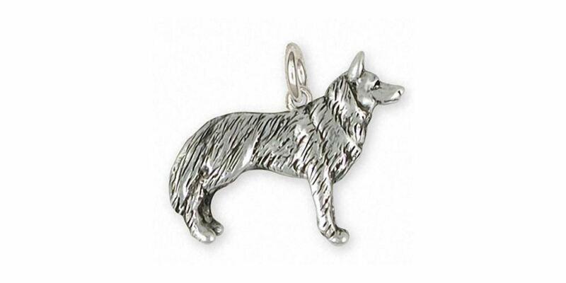 Siberian Husky Charm Jewelry Sterling Silver Handmade Dog Charm SH20-C