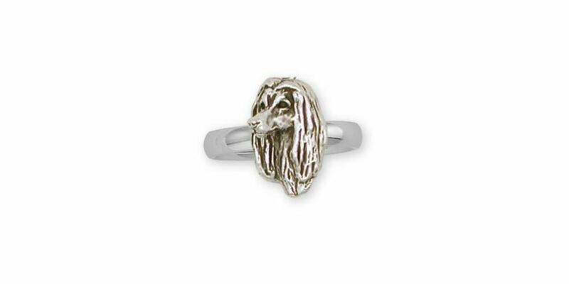 Afghan Hound Ring Jewelry Sterling Silver Handmade Dog Ring AF2-R