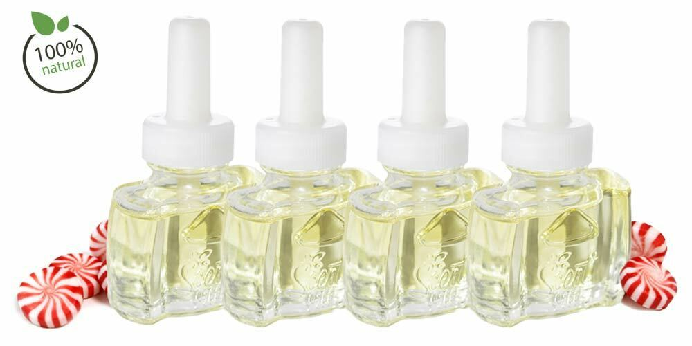3 100% Natural  Peppermint Refills for Glade Wick Renuzit