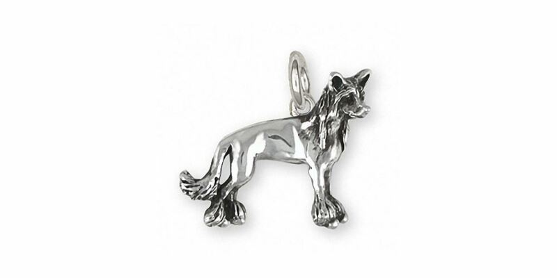 Chinese Crested Charm Jewelry Sterling Silver Handmade Dog Charm CC4-C