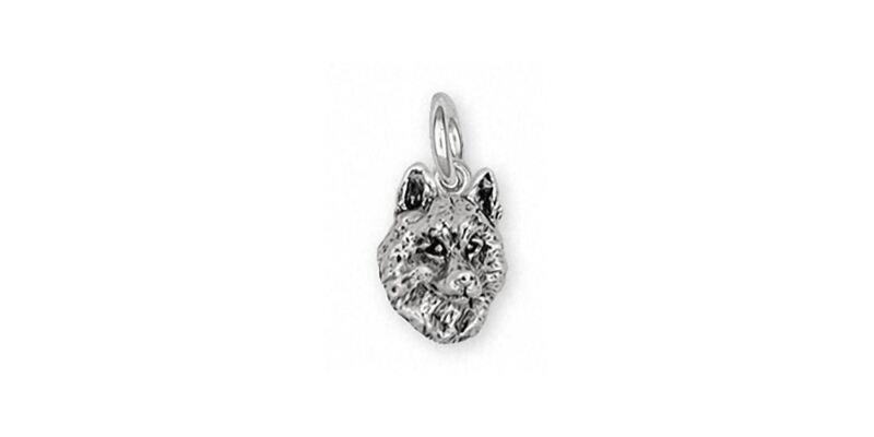 Siberian Husky Charm Jewelry Sterling Silver Handmade Dog Charm SB3-C