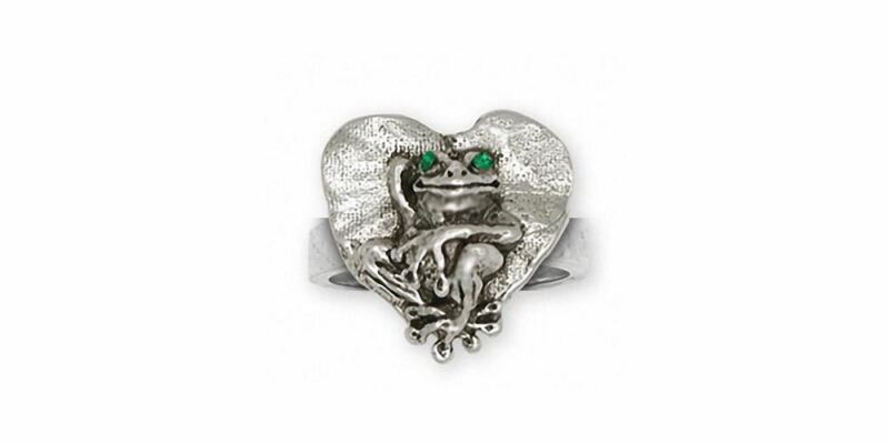 Frog Ring Jewelry Sterling Silver Handmade Frog Ring FG25-XR
