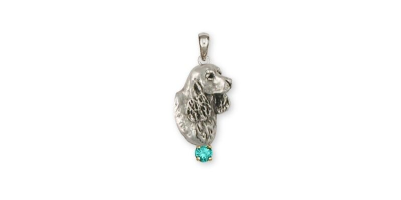 Springer Spaniel Pendant Jewelry Sterling Silver Handmade Dog Pendant SS6-SP