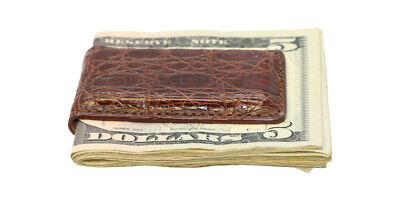 Magnetic Money Clip Genuine Crocodile Skin All Colors Factory Direct Made in USA ()