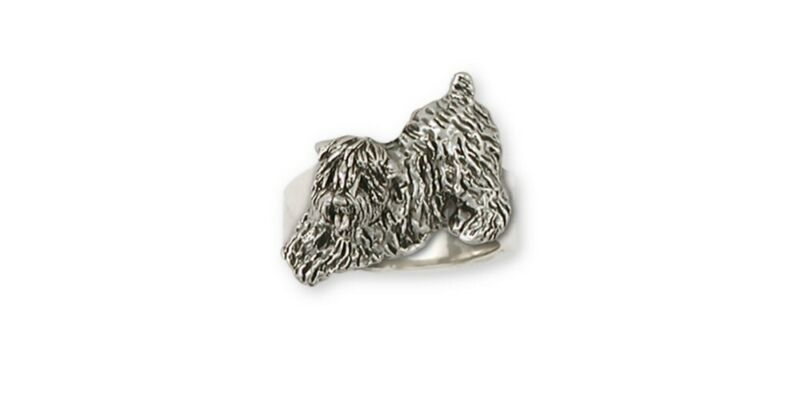 Soft Coated Wheaten Ring Jewelry Sterling Silver Handmade Dog Ring SCW6-R