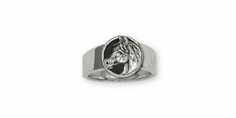 Horse Ring Jewelry Sterling Silver Handmade Horse Ring EQ9-R2