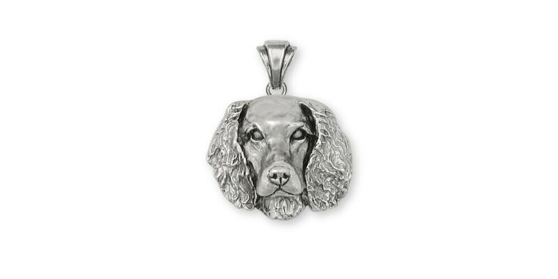 Springer Spaniel Pendant Jewelry Sterling Silver Handmade Dog Pendant SPS-P