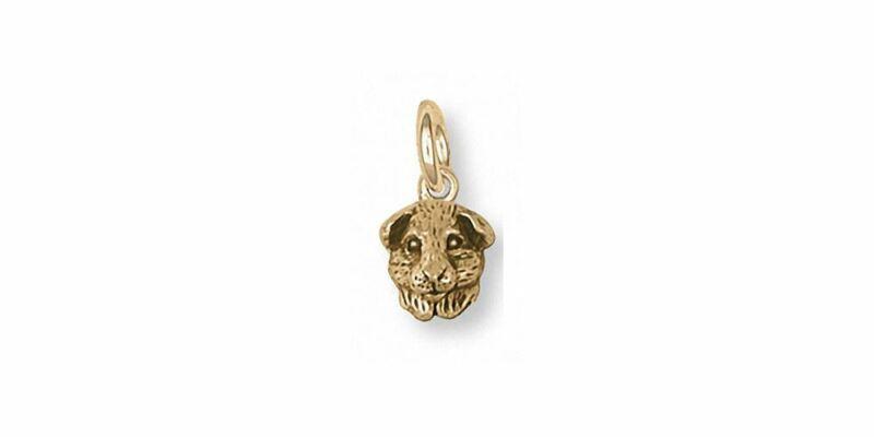 Guinea Pig Charm Jewelry 14k Gold Handmade Piggie Charm GP4H-CG