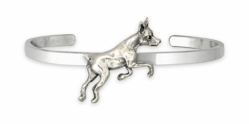Min Pin Jewelry Sterling Silver Handmade Miniature Pinscher Bracelet  MP17-CB