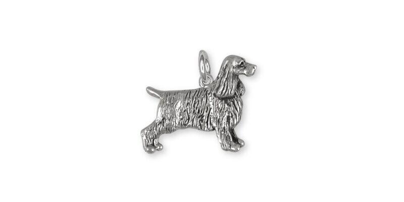 Springer Spaniel Charm Jewelry Sterling Silver Handmade Dog Charm SS7-C