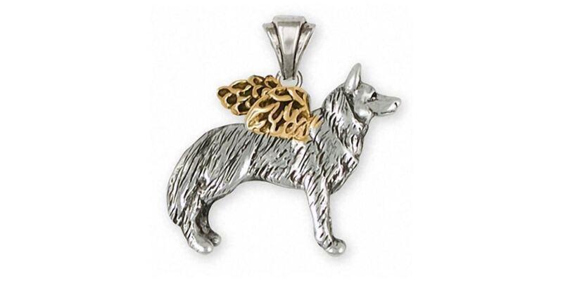 Siberian Husky Angel Pendant Jewelry Silver And Gold Handmade Dog Pendant SH20-T