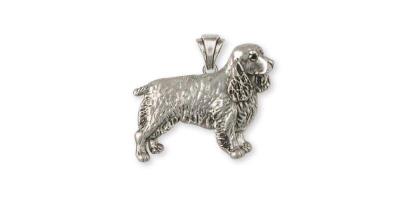 Springer Spaniel Pendant Jewelry Sterling Silver Handmade Dog Pendant SS3-P