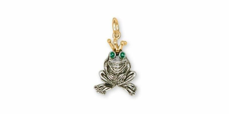 Frog Charm Jewelry Silver And Gold Handmade Frog Charm FG18-TTC