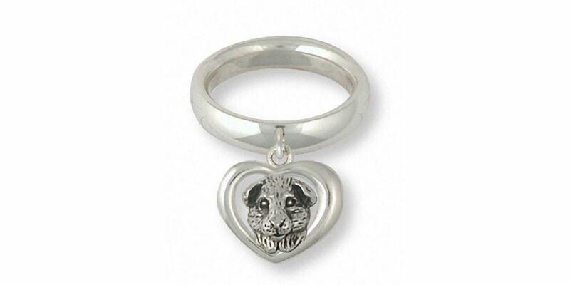 Guinea Pig Ring Jewelry Sterling Silver Handmade Piggie Ring GP4-CR