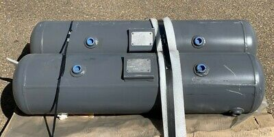 Qty 2 Steel Fab A13517 R1764.5c 218 Psi 30 Gallon Horizontal Air Tanks