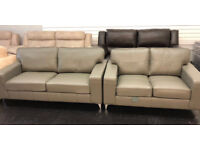 Leather 3 + 2 seater sofas!