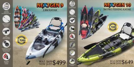 NEXTGEN KAYAKS IN PERTH - ALUMINIUM SEAT PADDLE PACKAGE
