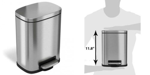 iTouchless SoftStep 8 Gallon Stainless Steel Step Trash Can