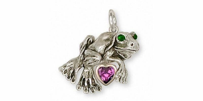 Frog Charm Jewelry Silver And Gold Handmade Frog Charm FG3-TNSC