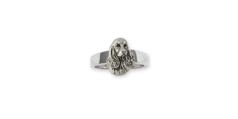Springer Spaniel Ring Jewelry Sterling Silver Handmade Dog Ring SS4-R