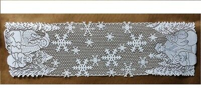 Lace Table Runner White SnowFamily 11