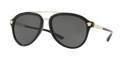 NEW Versace 4341 Sunglasses GB1/87 Black 100% AUTHENTIC
