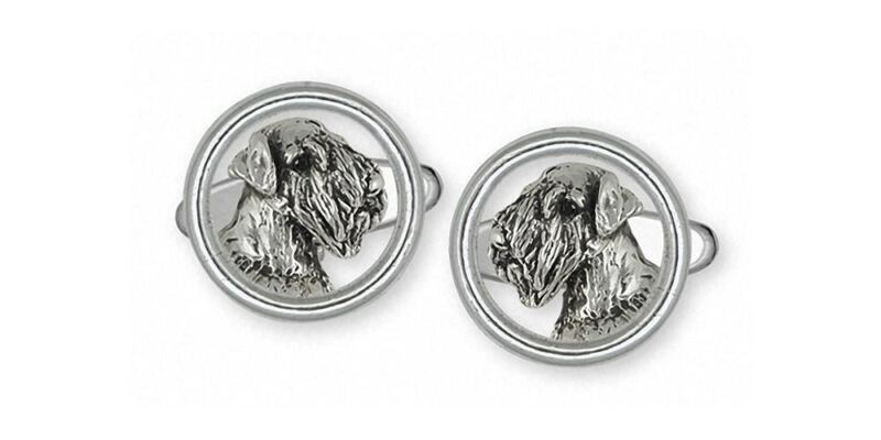 Sealyham Terrier Cufflinks Jewelry Sterling Silver Handmade Dog Cufflinks SEM1H-