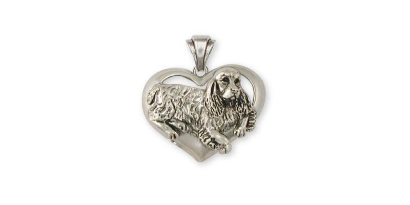 Springer Spaniel Pendant Jewelry Sterling Silver Handmade Dog Pendant SS2-P